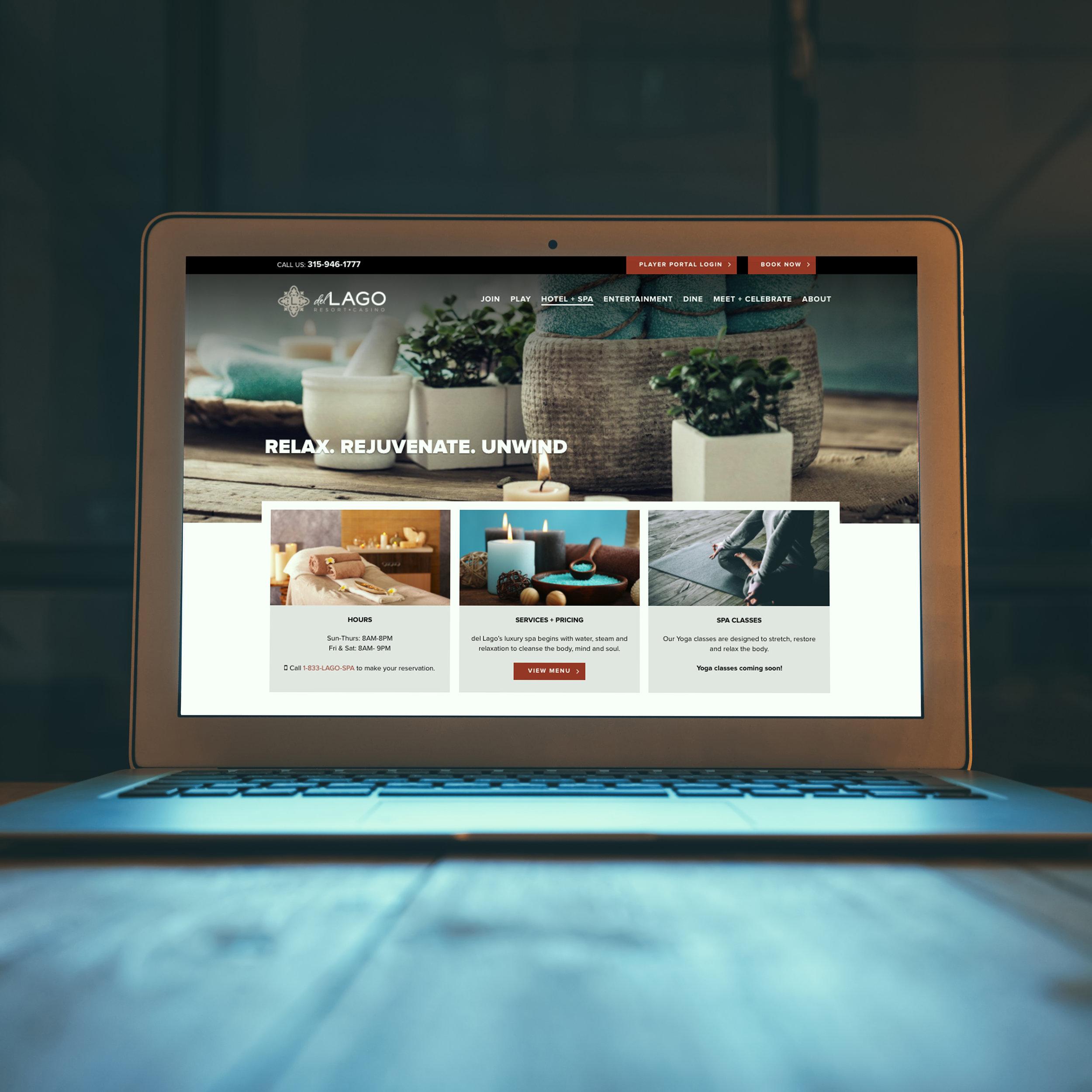 del Lago Resort & Casino: Website Design