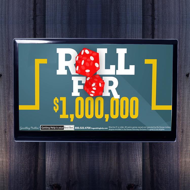 Kansas Crossing Casino + Hotel: Roll For $1,000,000 Digital Campaign