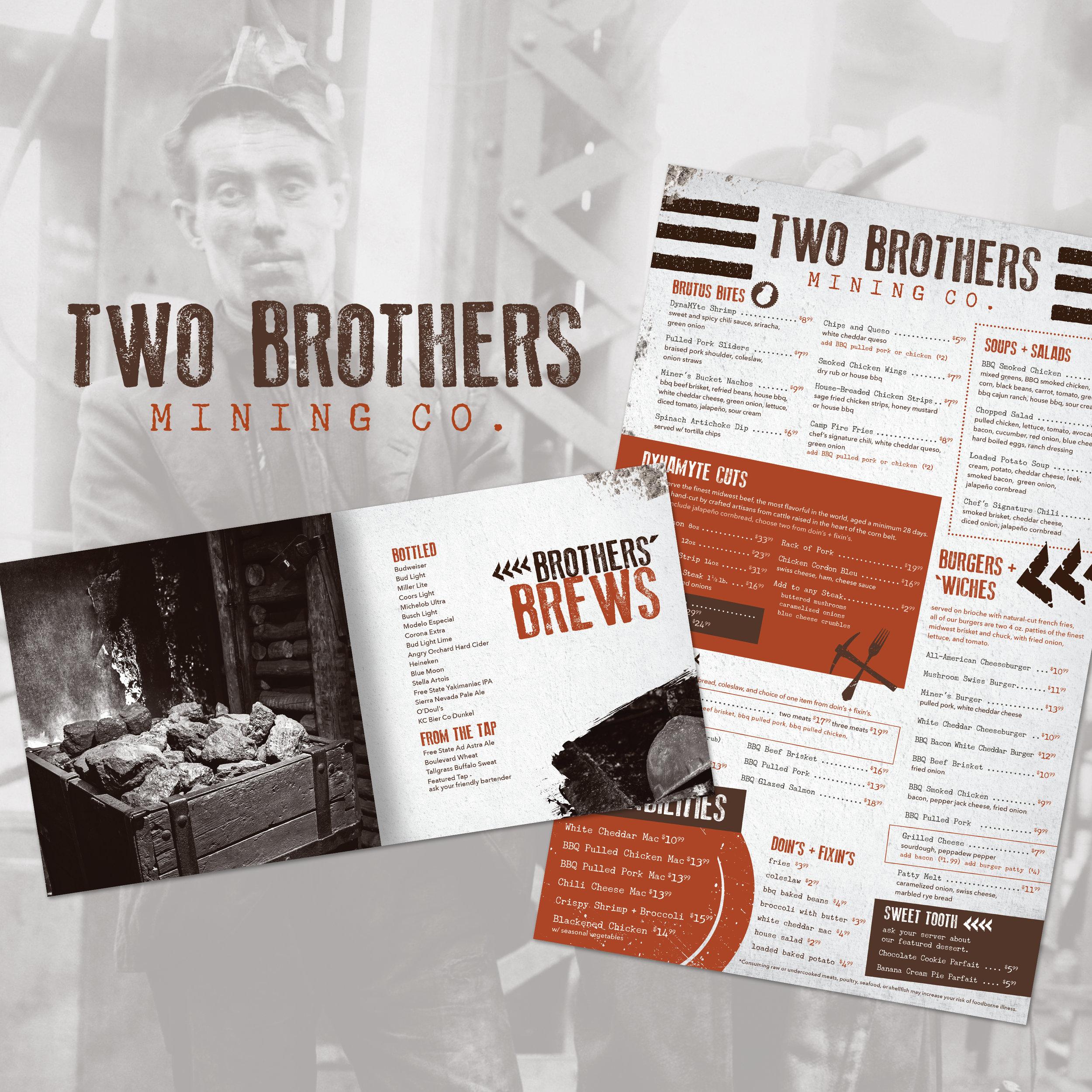 Kansas Crossing Casino + Hotel: Two Brothers Menu