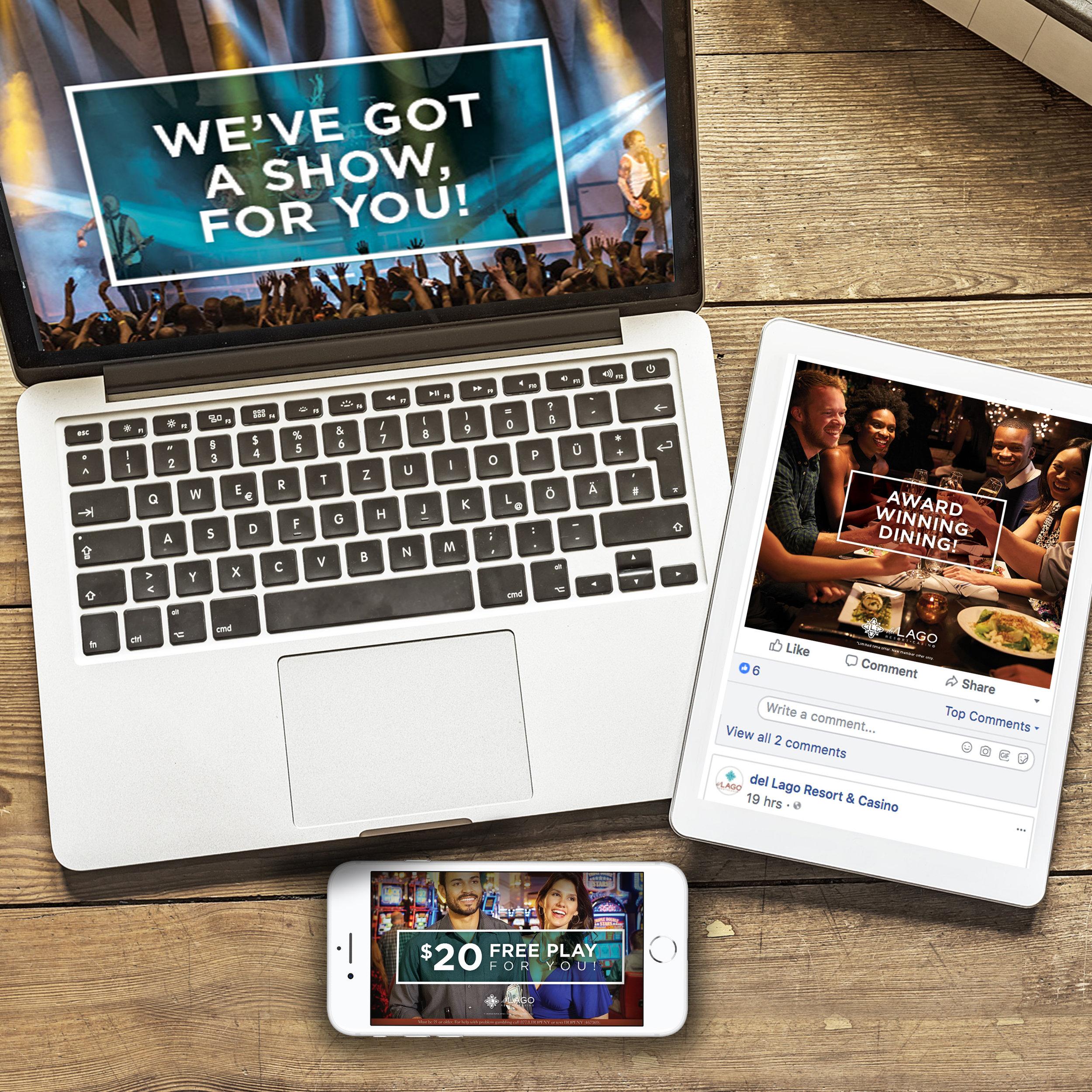 del Lago Resort & Casino: Carousel Facebook Campaign