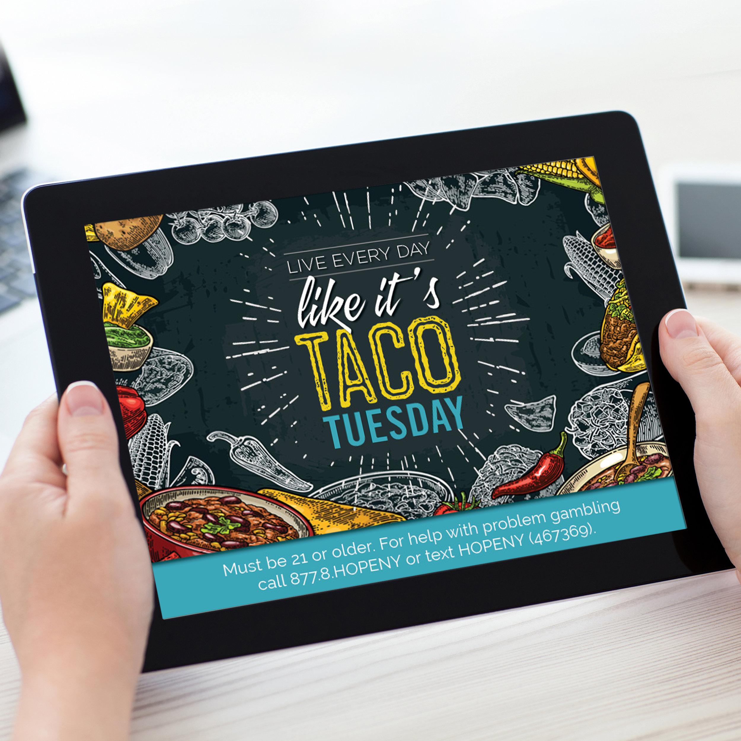 del Lago Resort & Casino: Taco Tuesday Campaign
