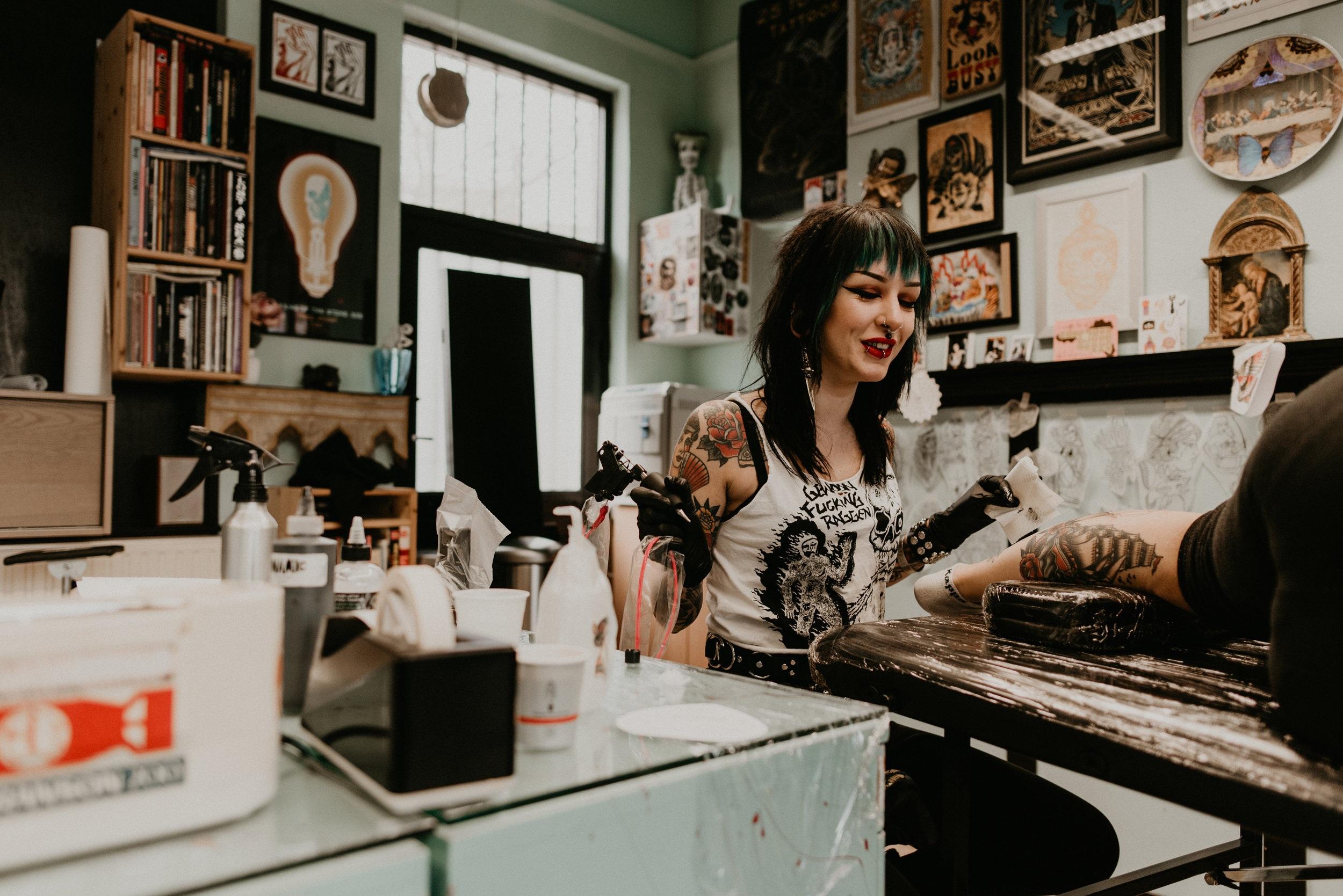 Moira Ramone Traditional Tattooer