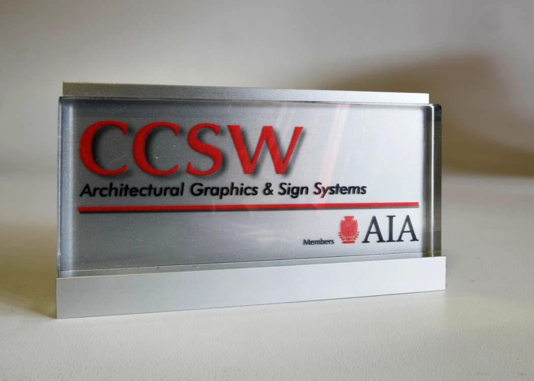 "CS-CA-GP7-2.5 X 6  7321 U Extrusion Satin Anodized  Aluminum backer with 3/8"" Clear Acrylic Lens, Digital Printed 7 mill clear film"