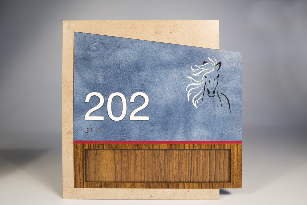 AS-CA-GP2-8x8  In-laid Laminates, Engraved Paint filled Graphic