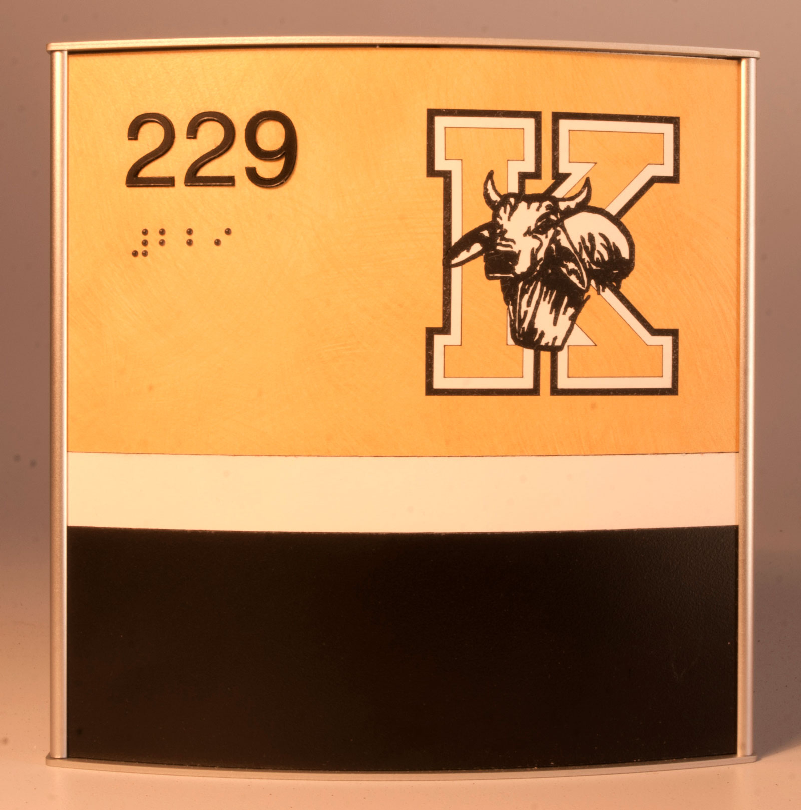 SP-CA-GP2-5x6  Satin Finished Frame, In-laid Laminates, Engraved Paint Filled Graphic