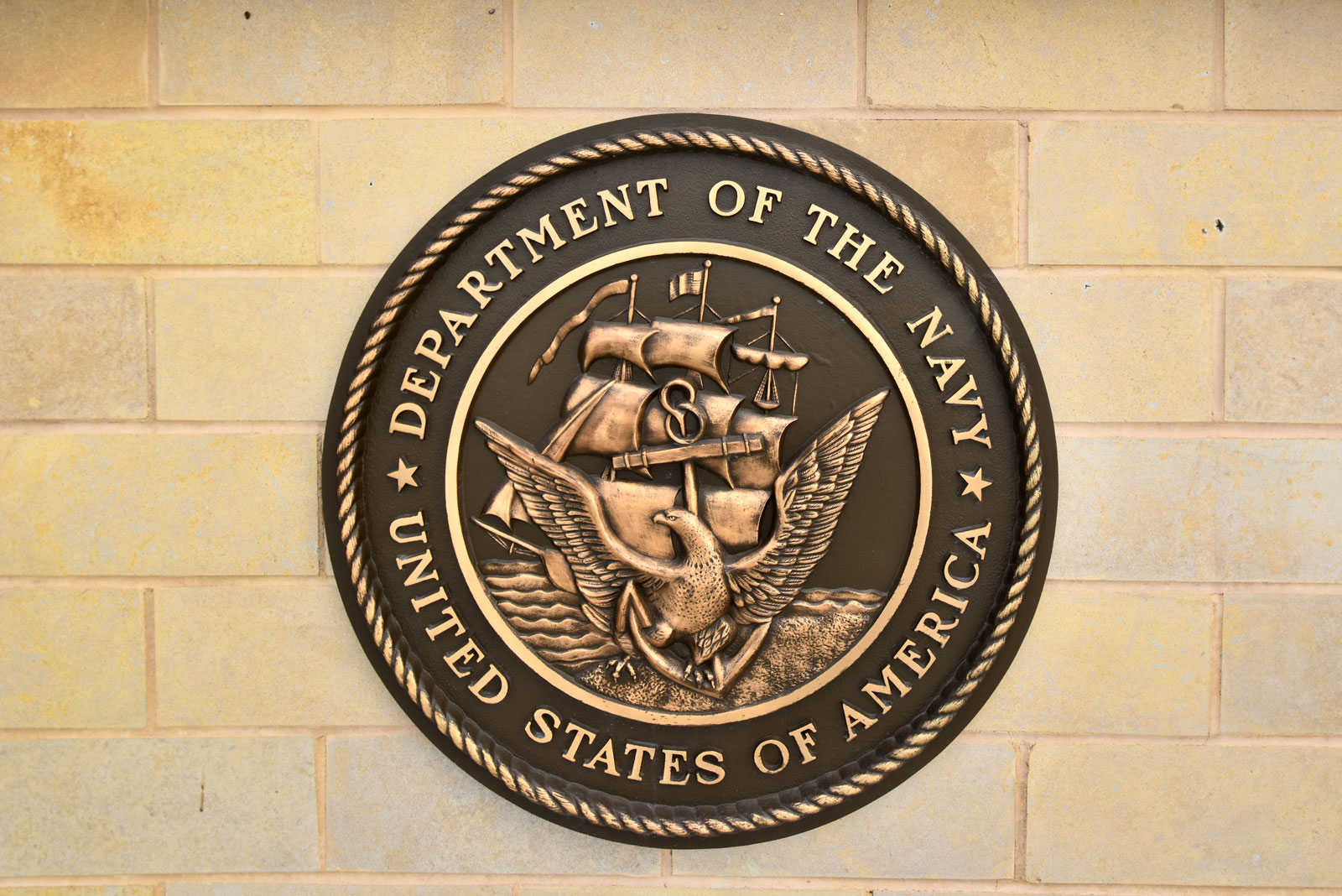 "36"" diameter, cast bronze military seal"