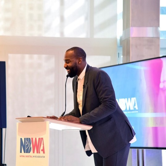 #tbt To whom much is given, much is expected. Co-host #BaronDavis joined the #NBWA to discuss how to use our platform to elevate the culture. #NBAAllStar