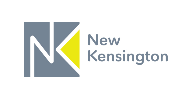 CONCEPT 2 - By using color strategically in the negative space of the K, the arrow acts as a spotlight shining on New Kensington.