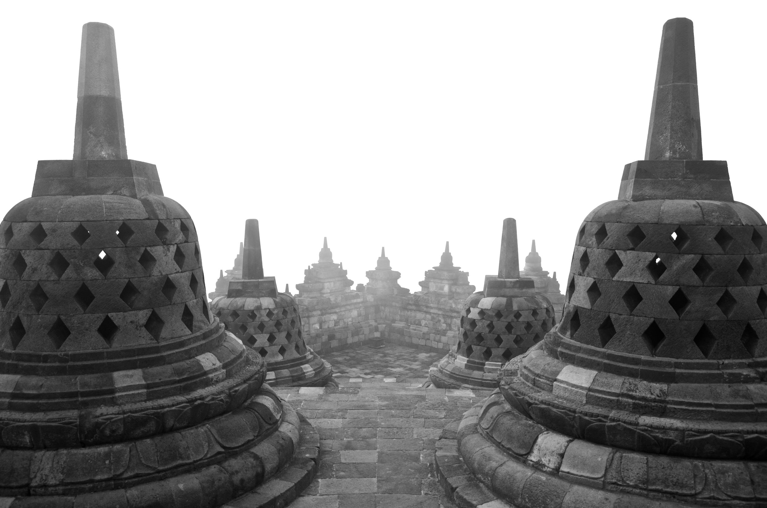 Borobudur Temple. Central Java, Indonesia