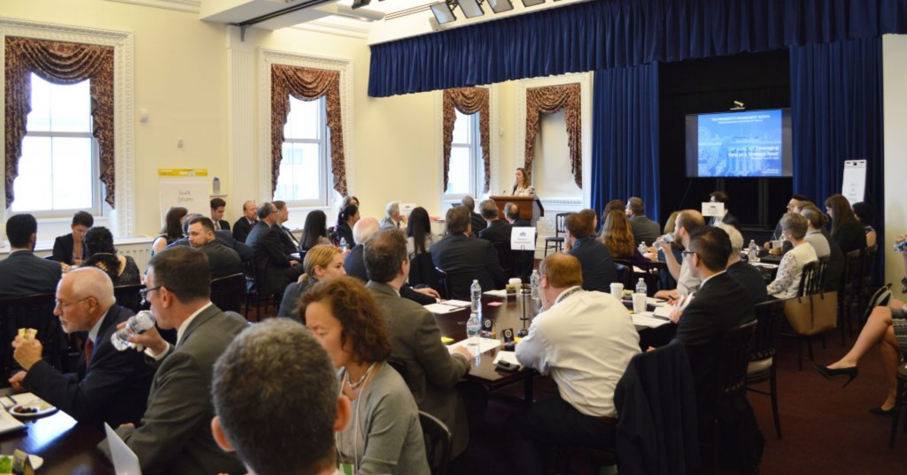 Margaret Weichert welcomes Roundtable participants (Executive Office of the President Office of Management and Budget)