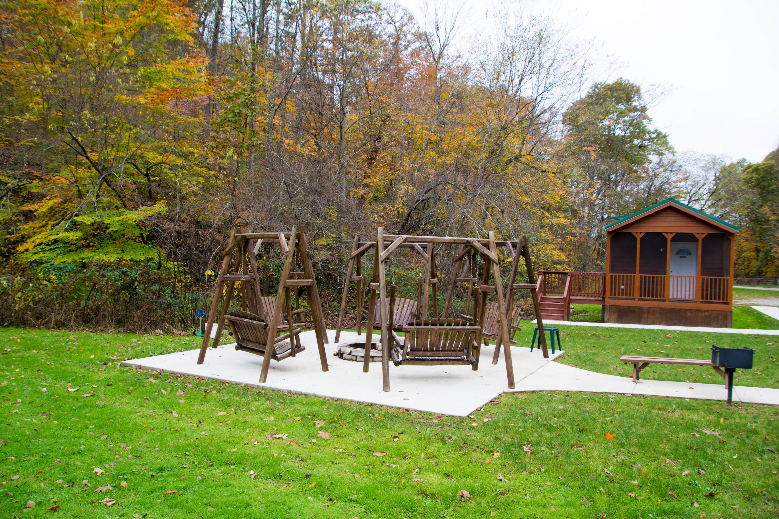 Sing to the birds around the fire pit and see if the mice come out of the woods to make your bed!