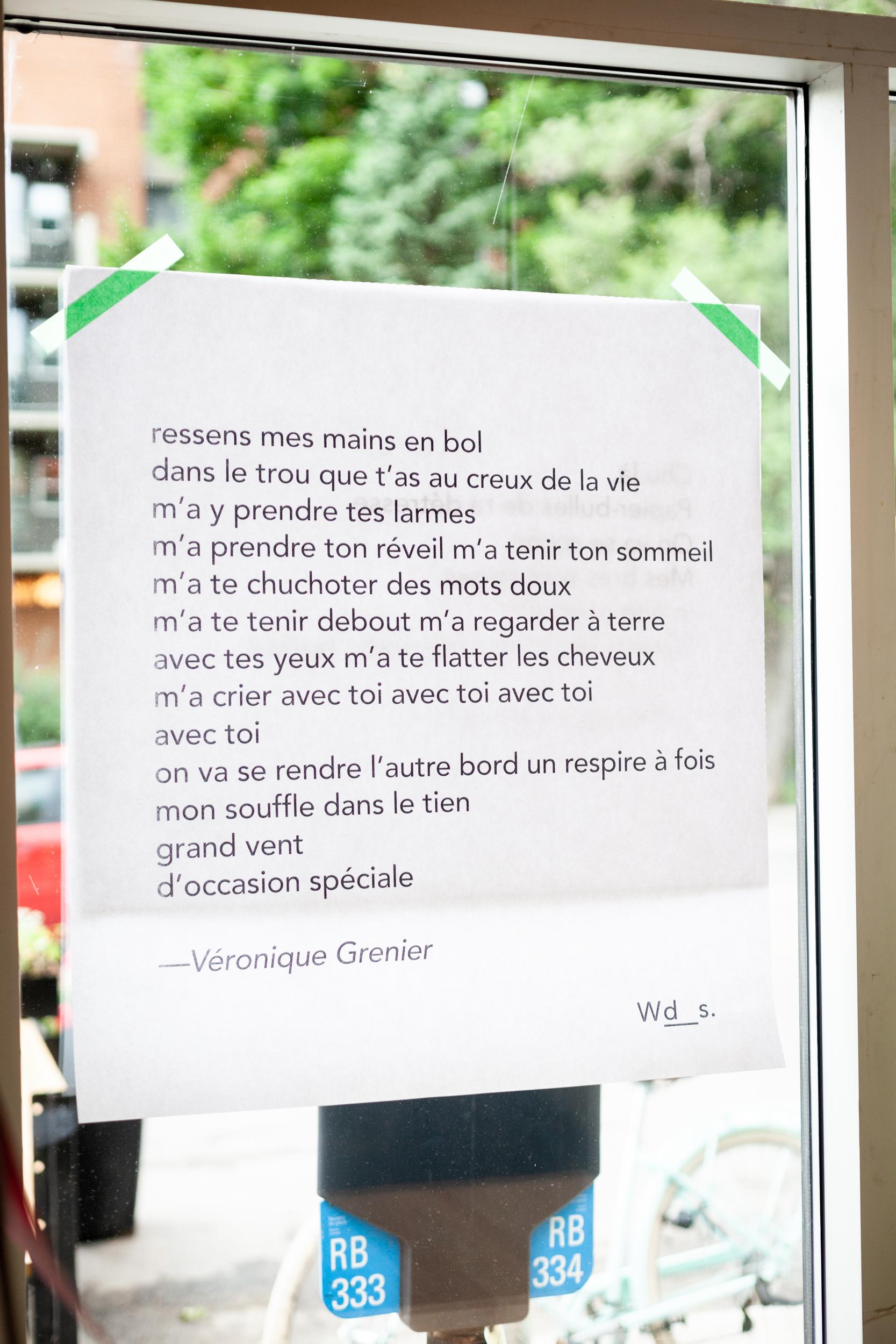 Poème par  Véronique Grenier