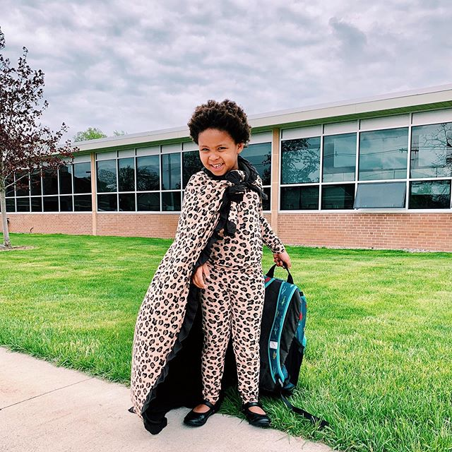Shoutout to all of our little superheroes! Saving the world one smile at a time. 🦸♀️ We still have our Print Ruffle Toddler Blankets in Suede Cheetah available on our website; get yours before they're gone! 🐆  Link to shop in bio.