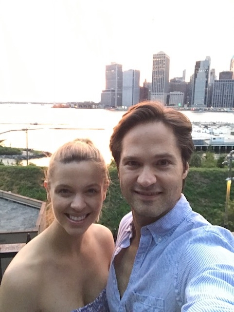 B and I out in Brooklyn just weeks after Alexandra's birth enjoying time together:)
