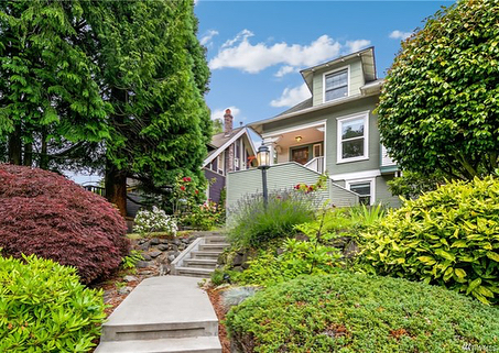 Open today! Come visit me from 2-4pm at this Classic 1906 Queen Anne craftsman perched above the charming & quiet, tree-lined street w/rare 2-car garage. Period appropriate yet elegantly modernized!  Listing courtesy of @urbanash 👍🏼 📍1824 8th Ave W, Seattle, WA, 98119  4 Bed | 1.75 Bath | 2640 SF | $1,200,000