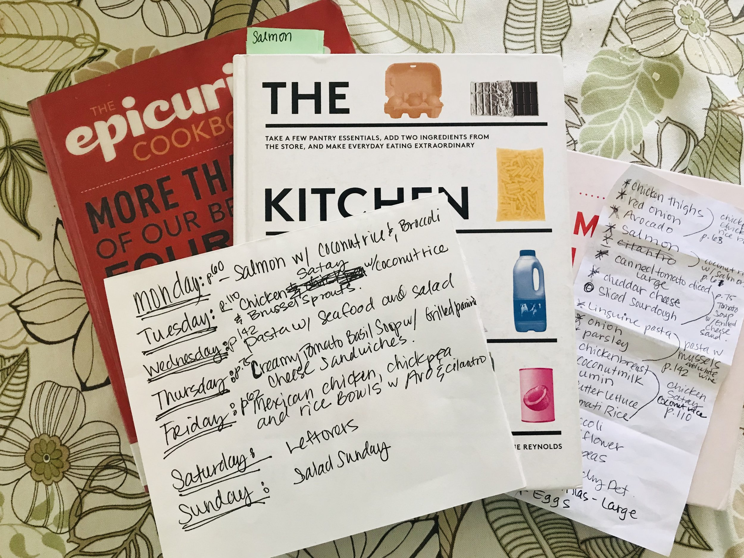 Menu Planning for the week with The Kitchen Shelf cookbook