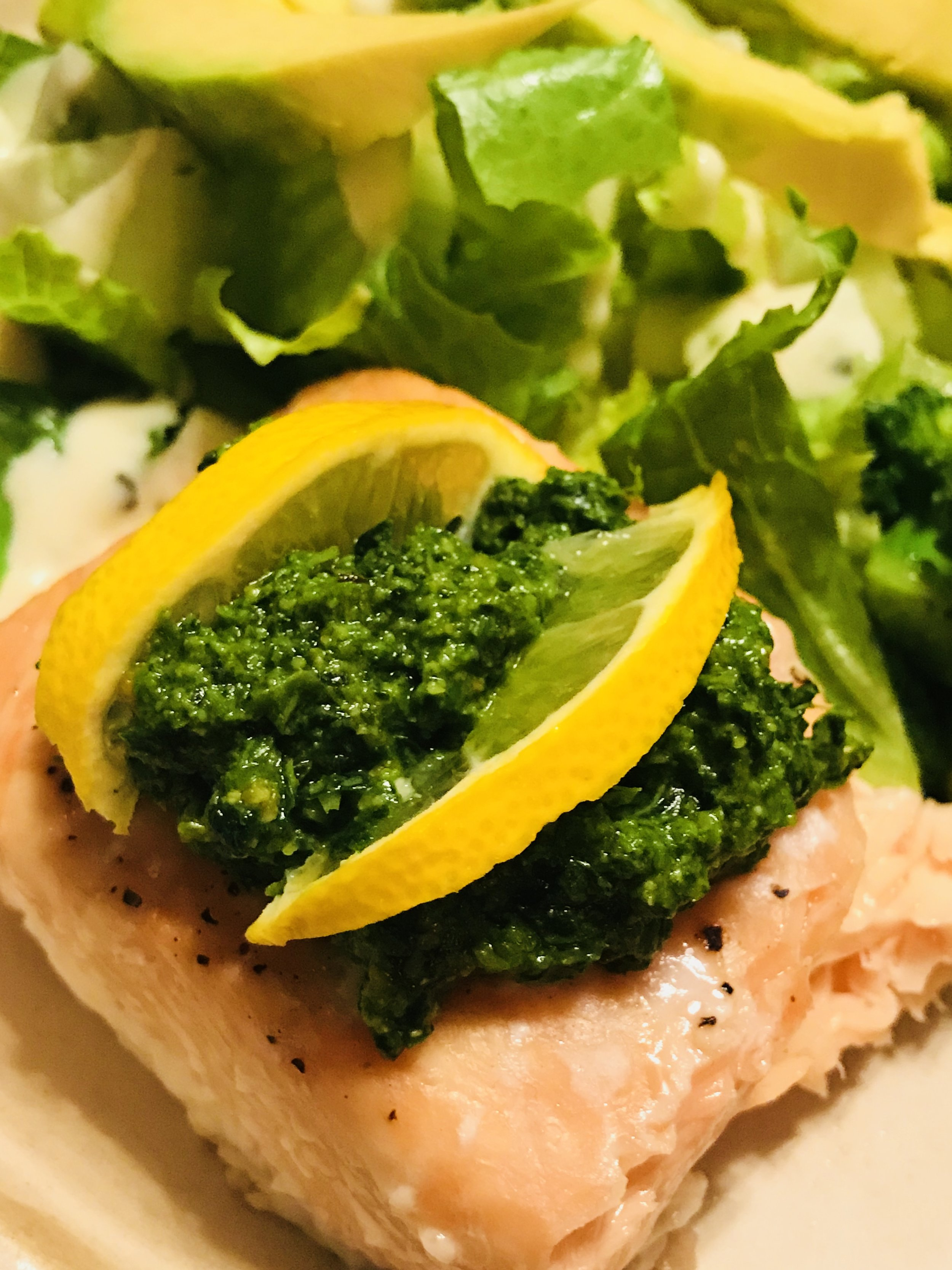 Broiled Salmon with Sweet and Spicy Cilantro Sauce