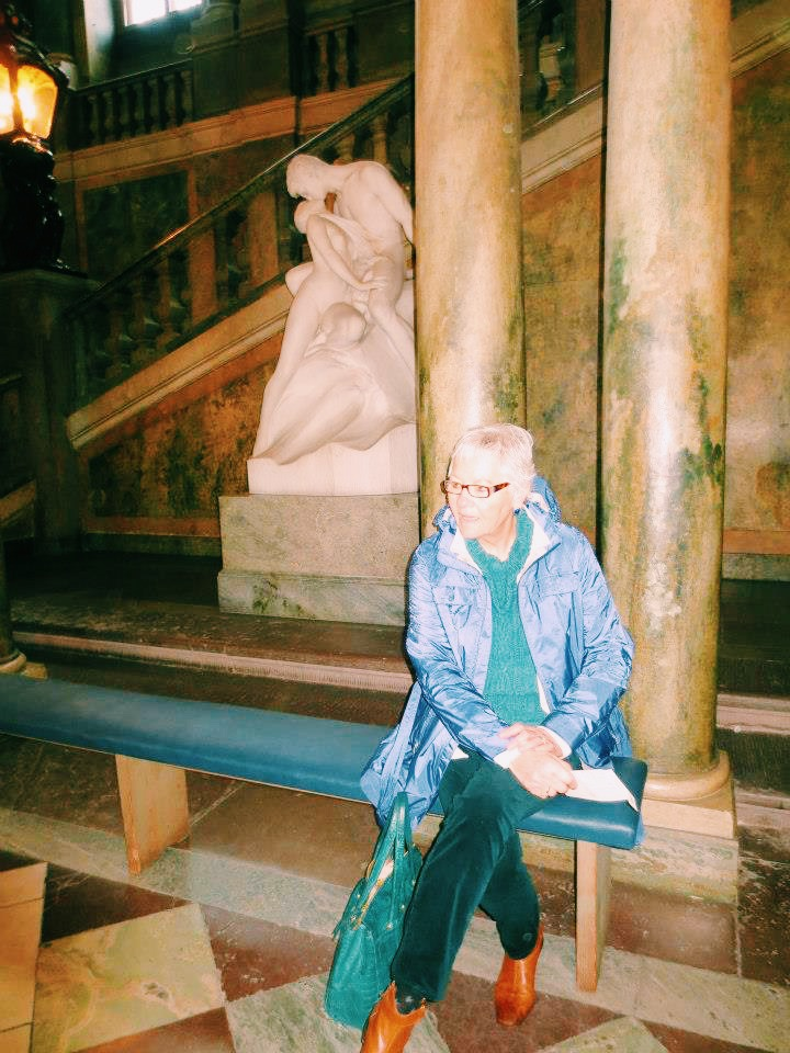 """Joanne """"Tutu Jo"""" Bergquist,my grandmother, teacher, and fashion inspiration. 1943 - 2015.   Pictured above in Stockholm, Sweden in 2013."""