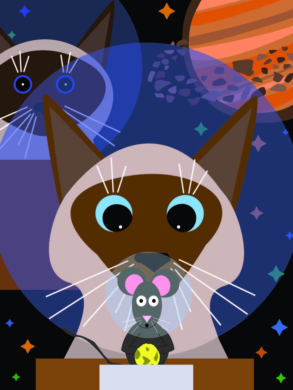Chantal-Benitez-Cats-Space-Illustration