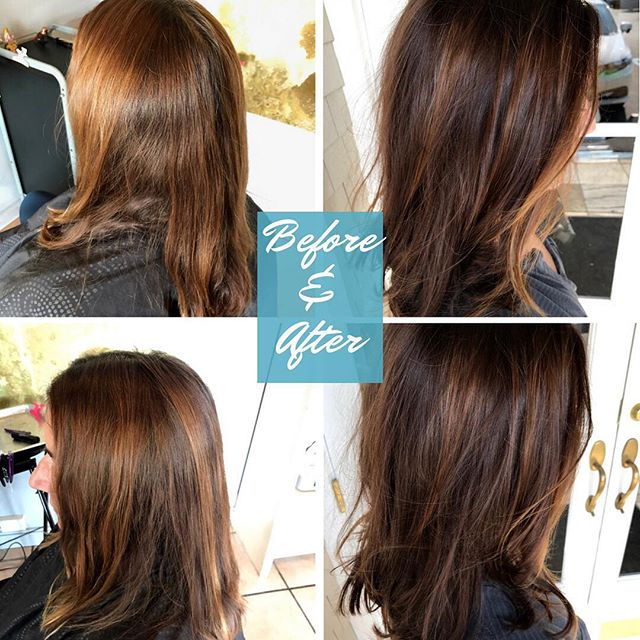 #salonellemillvalley #beforeandafter#haircolor#brunettesdoitbetter#richcolorgloss#lorealpros