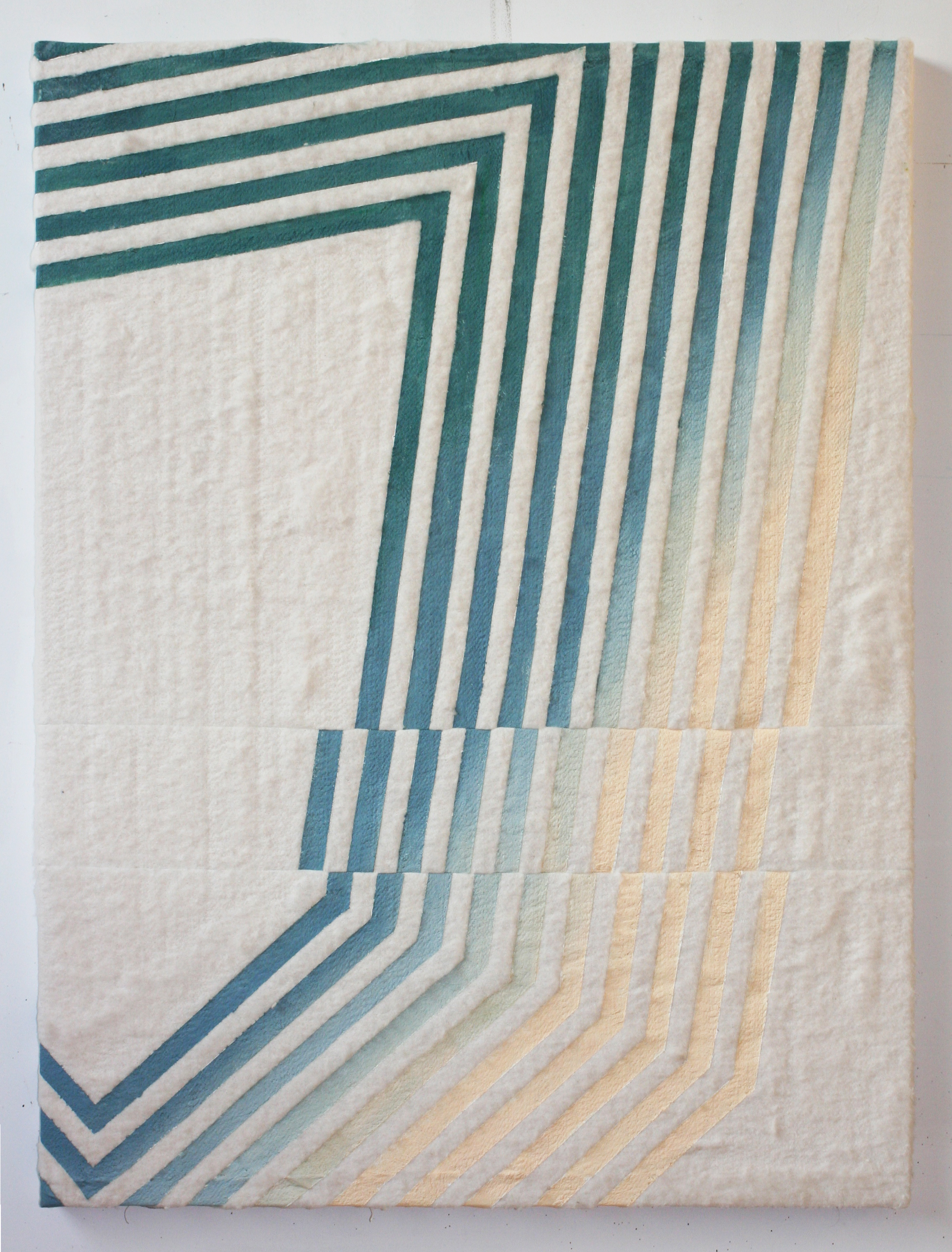 J (sailcat)  2014 oil on stitched cotton batting 48 in x 36 in