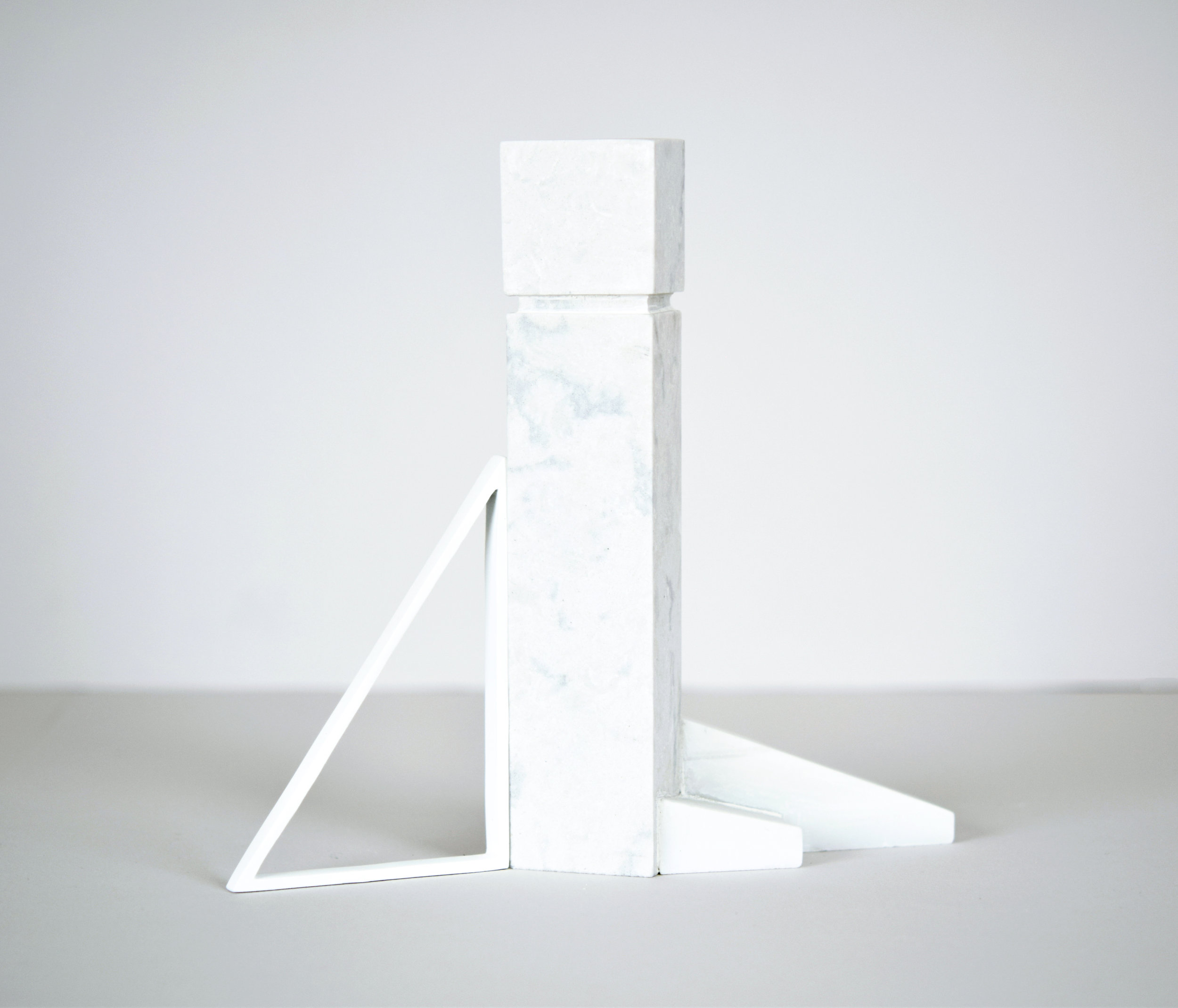 modern day monoliths  2017 quartz, marble, cast plaster 8.5 in x 2.5 in x 9 in