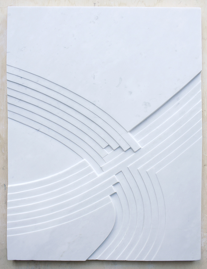 nodo  80.5 x 61 cm carrara marble 2017