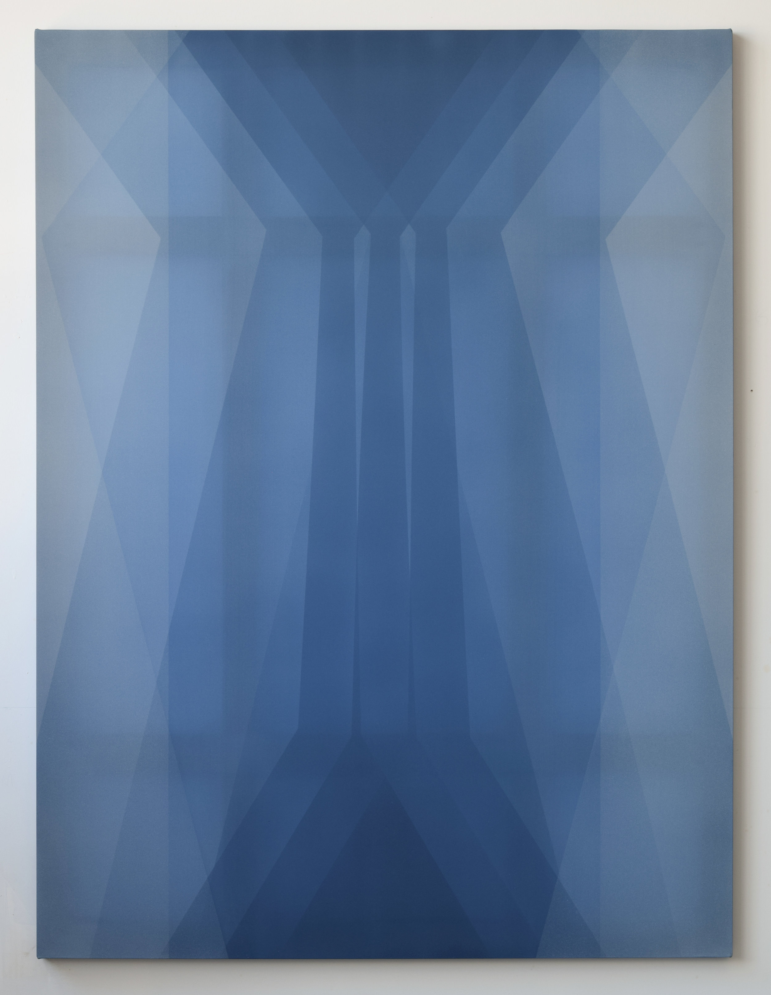 transmission  2019 acrylic on silk 60 in  x 45 in