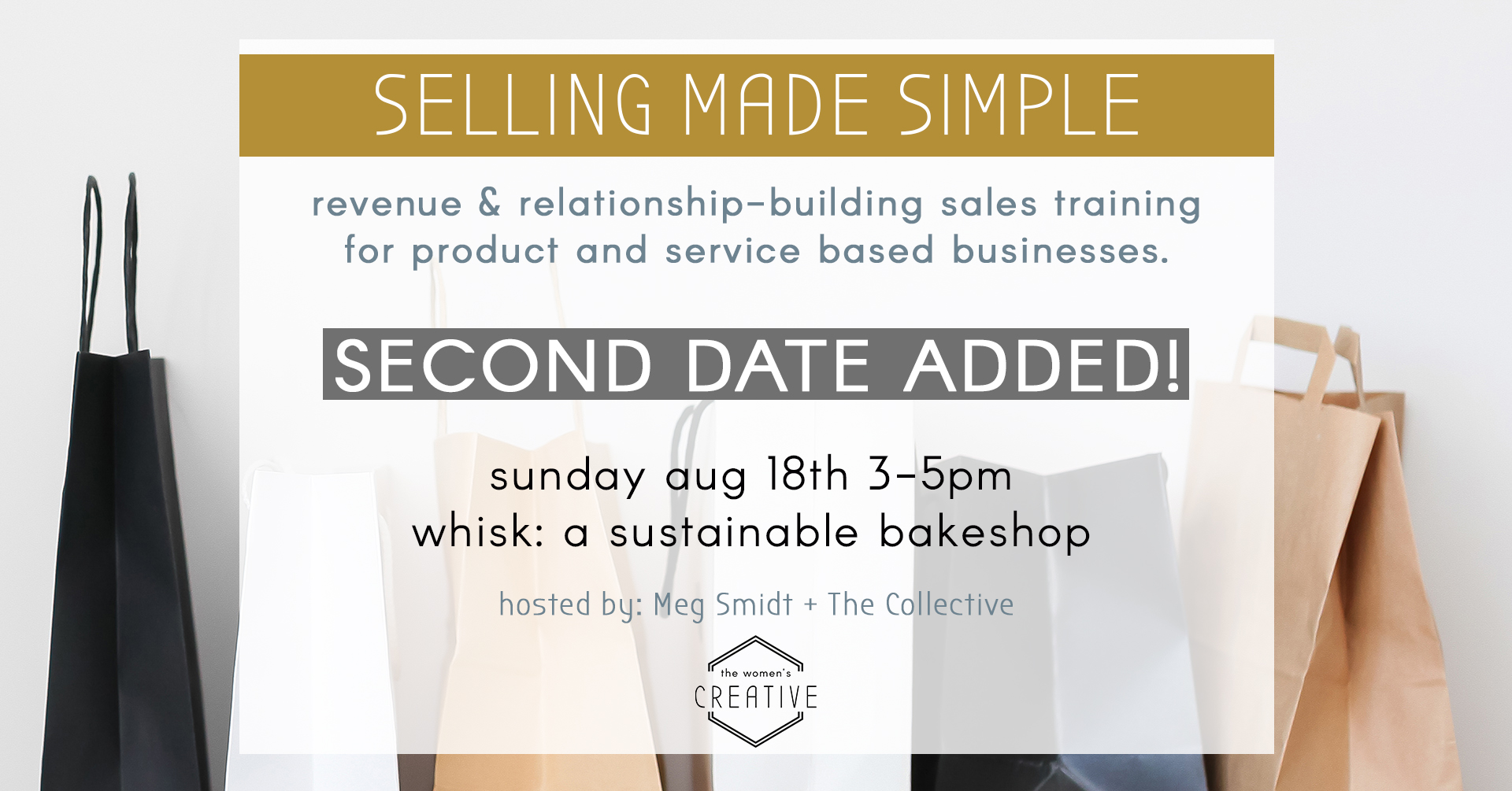 Sales WORKSHOP 2ND DATE the women's creative