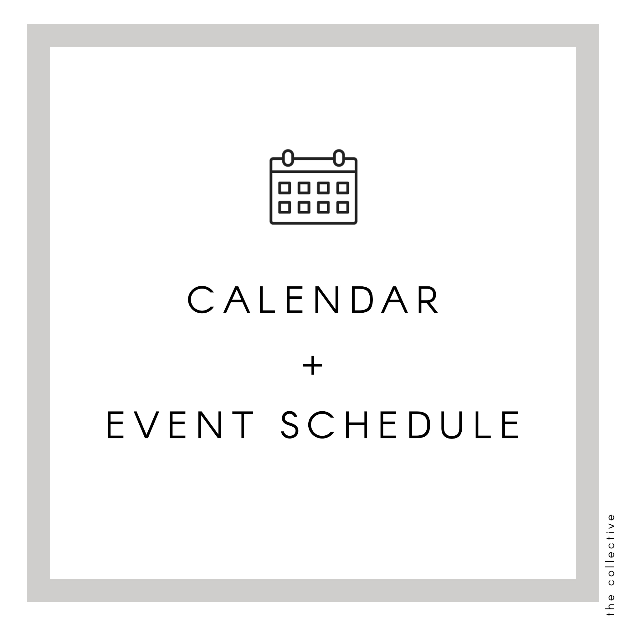 The Collective calendar and events