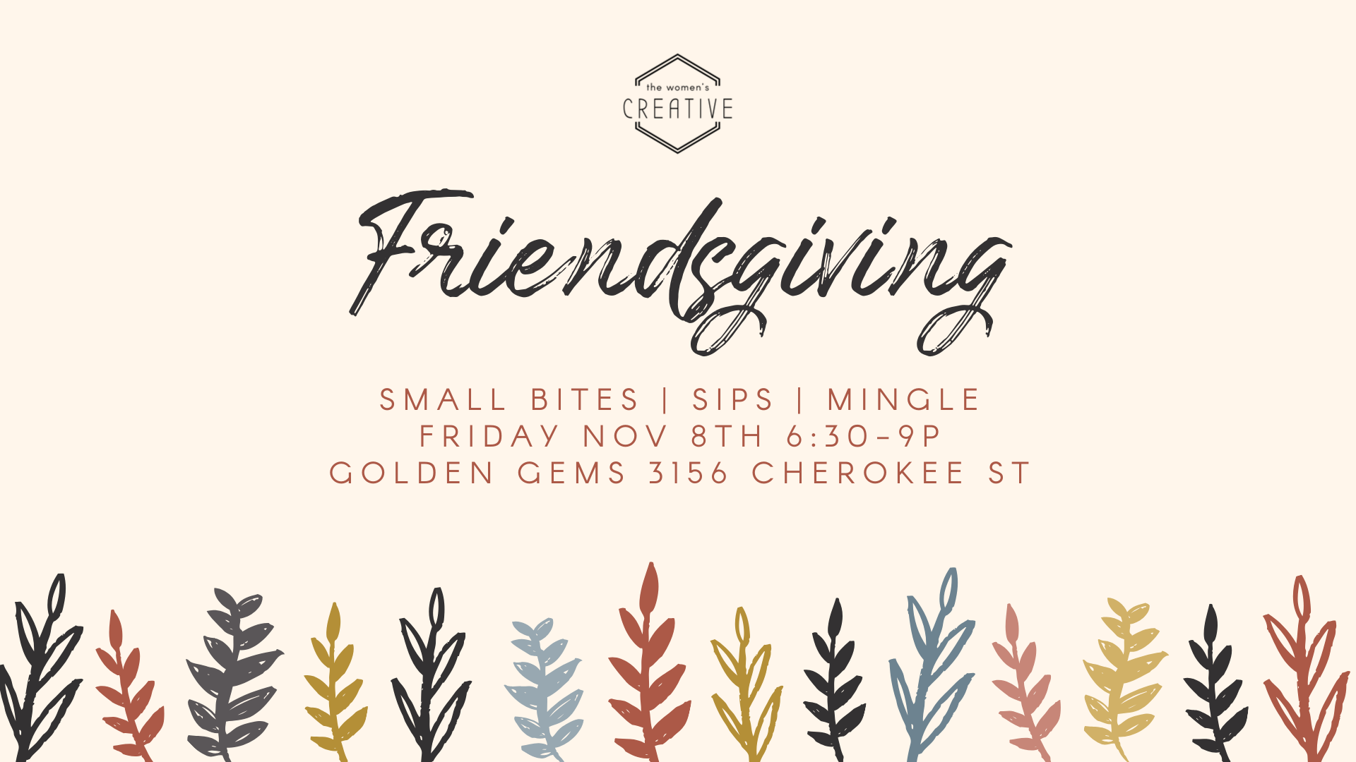 Friendsgiving Mingle St Louis The Women's Creative