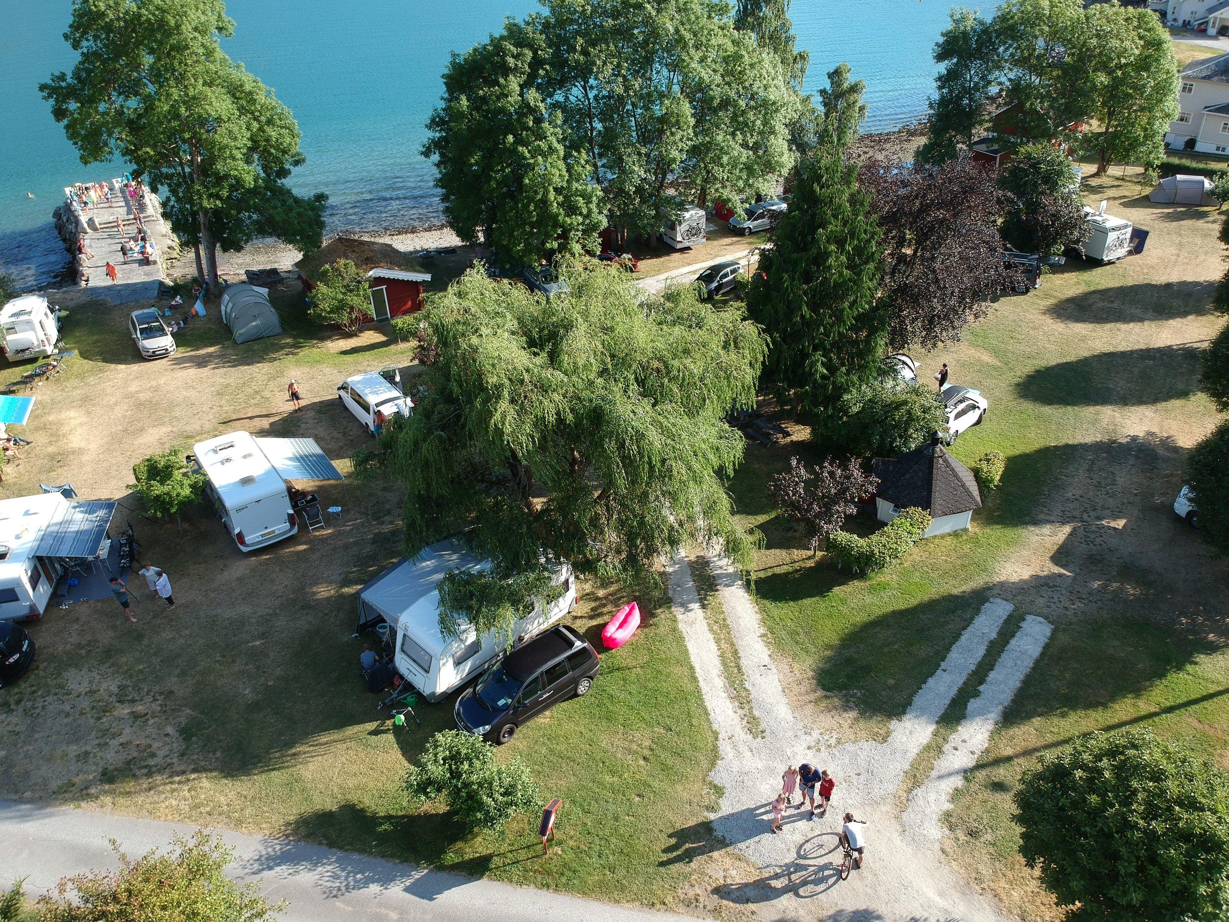 Campingområdet med video - Her kan du finne ut meir av kva me kan tilby deg