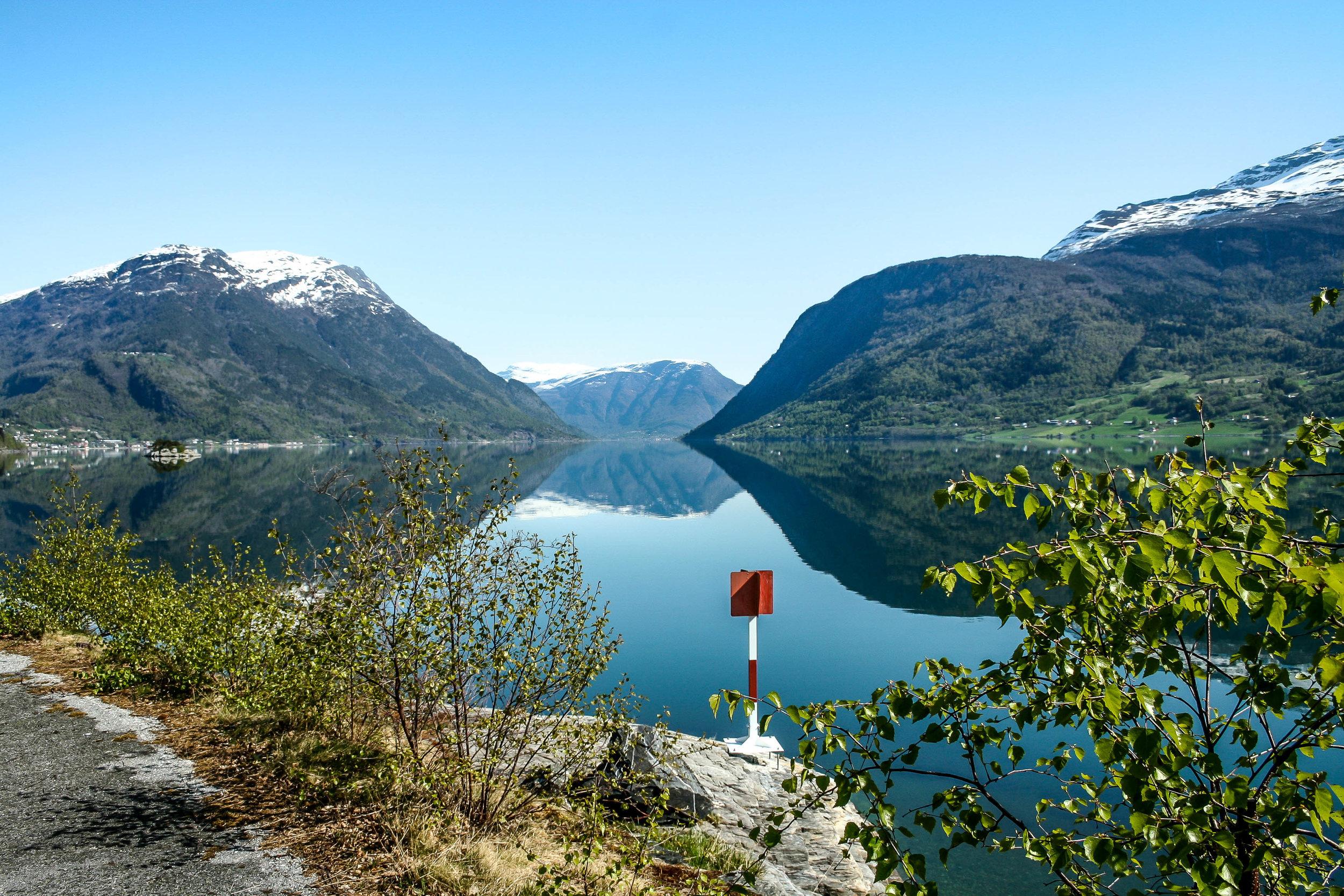 Utsikt innover fjorden