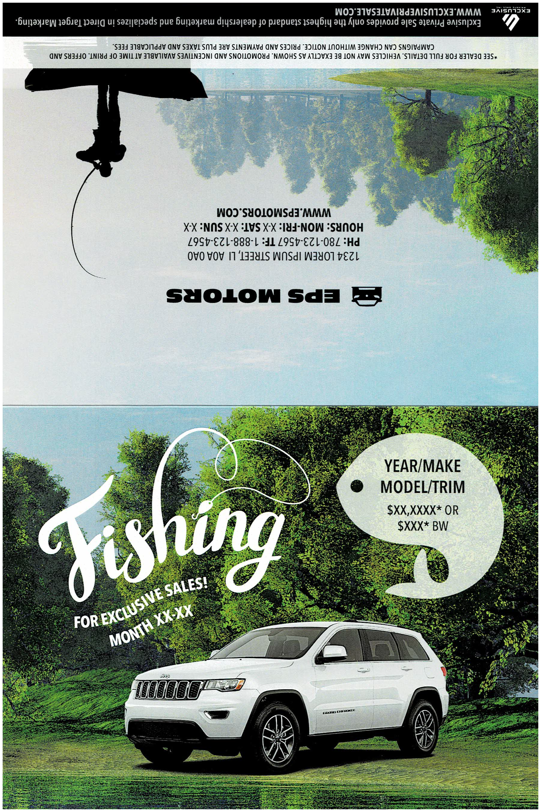 """Fishing Invite 6x9"""" - July Front Cover"""