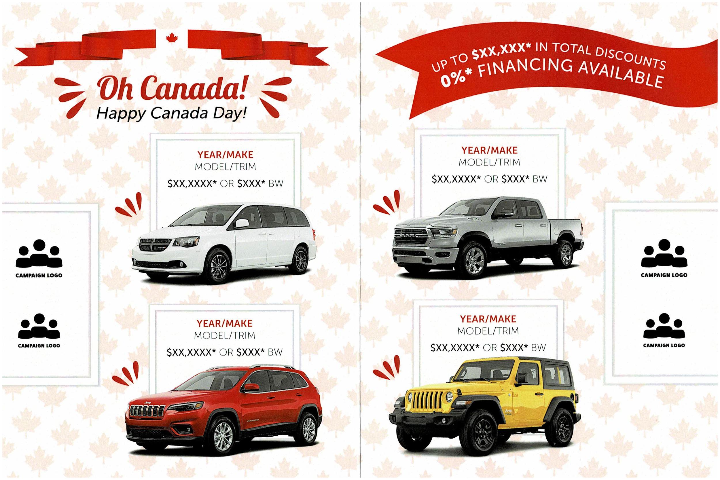 "Canada Day 2019 Invite 9x6"" - July Inside Cover"