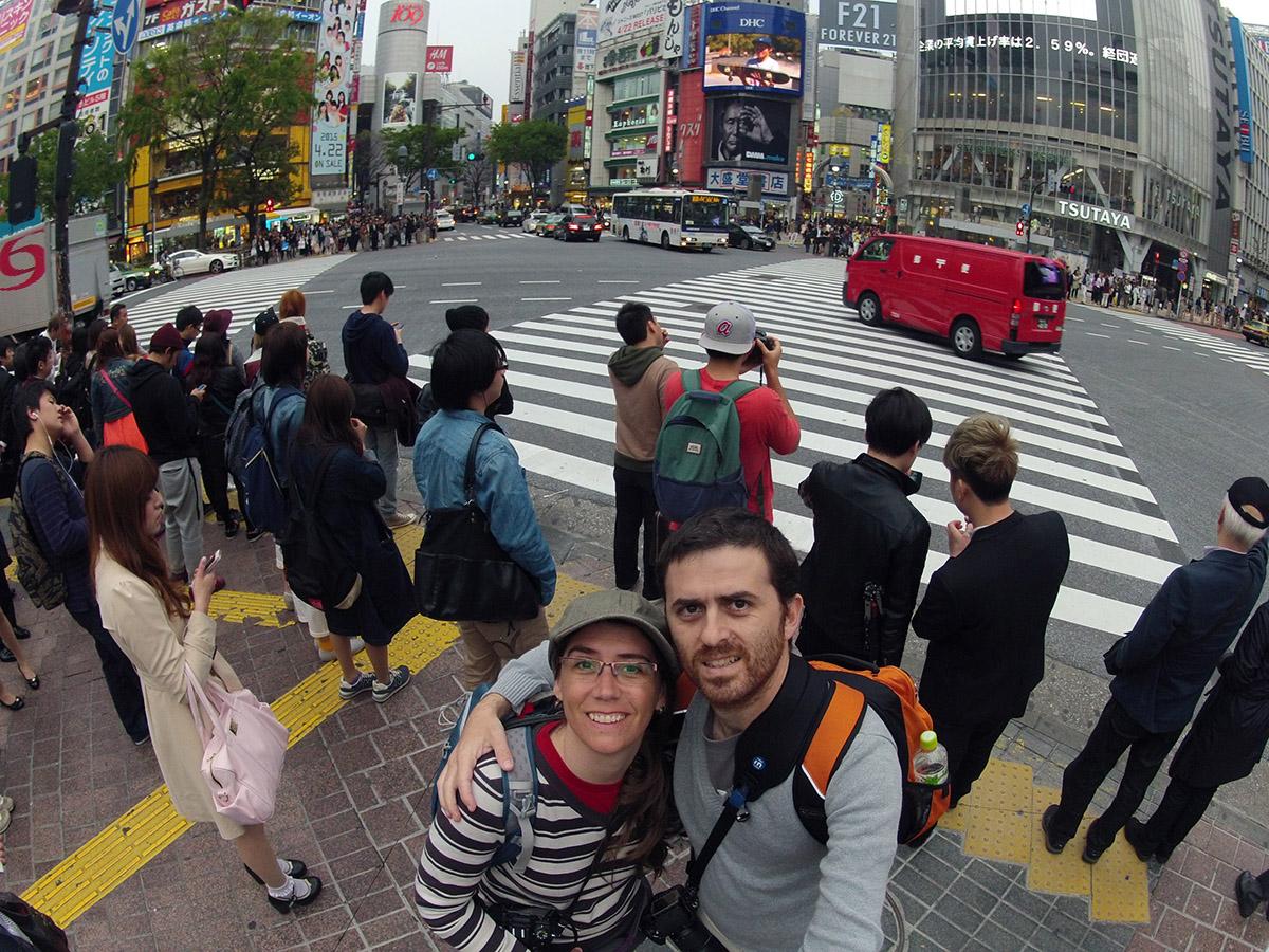 Shibuya antes del cruce