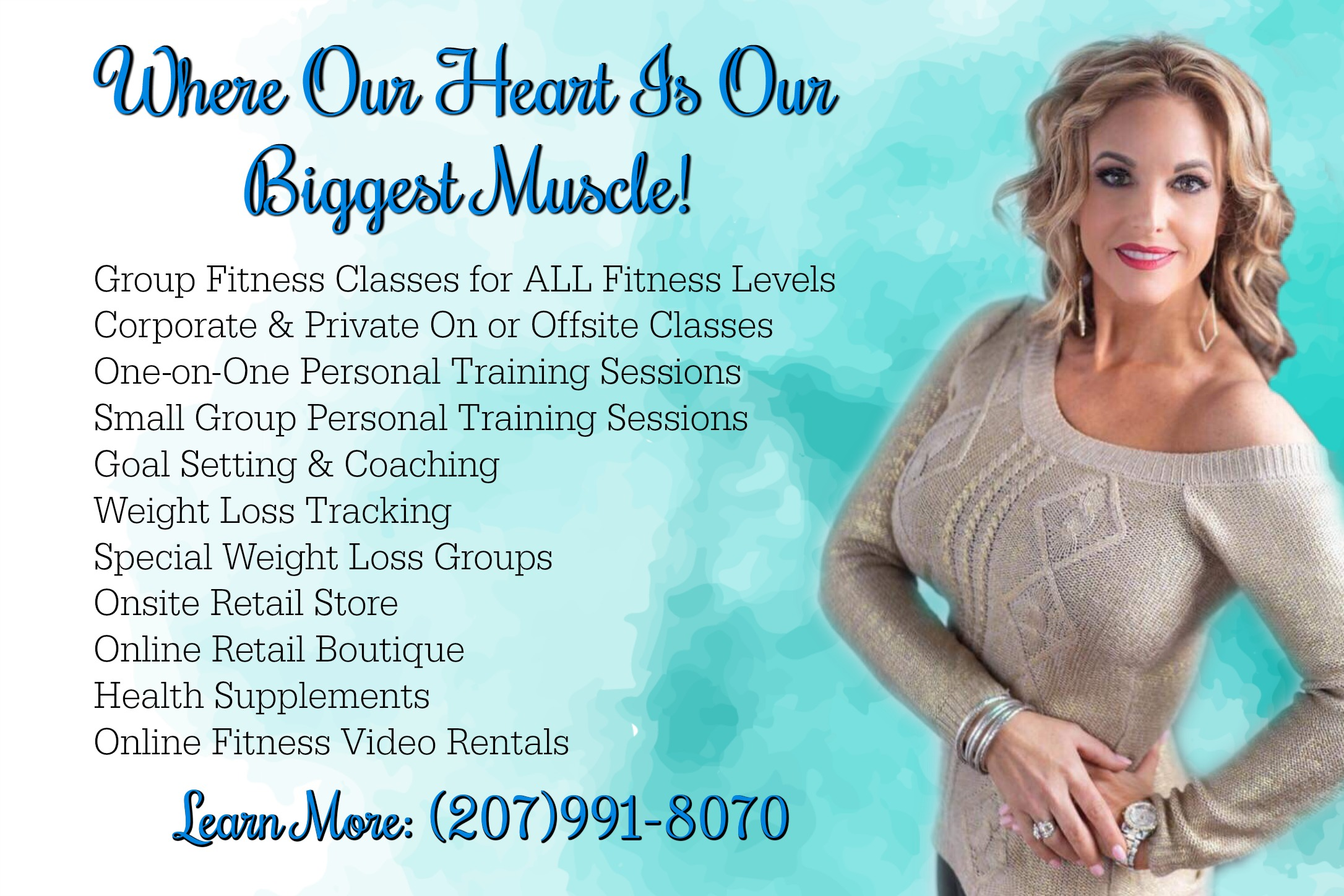 Weight Loss Coaching, Personal Trainers, Fitness Classes, in Bangor Maine.