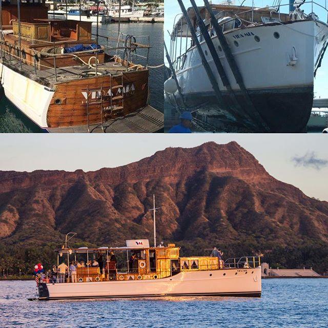 Restored to her original brilliance, 1929 Stephens #pdfhawaii #pacificdiversifiedfinishes #hawaiiboatrepair #waikiki #oahu #hawaii #yachting #boating #classicboats #woodenclassics