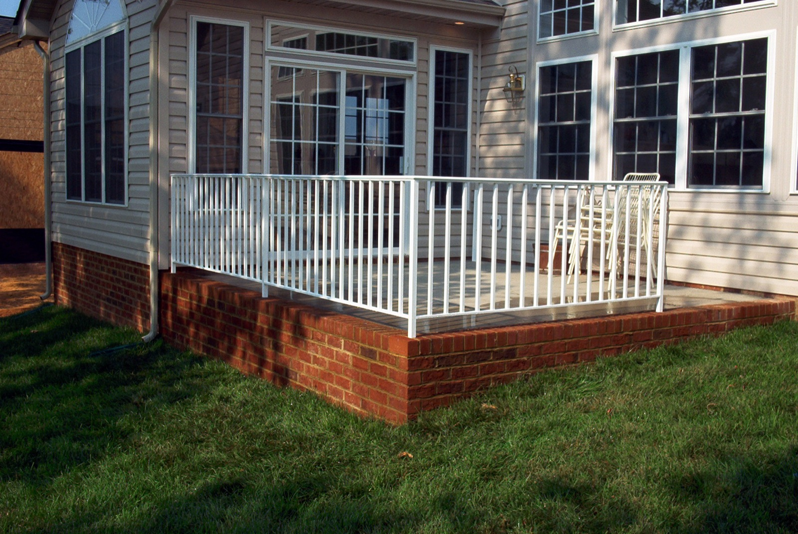 Ironlike patio rail with 1.25in