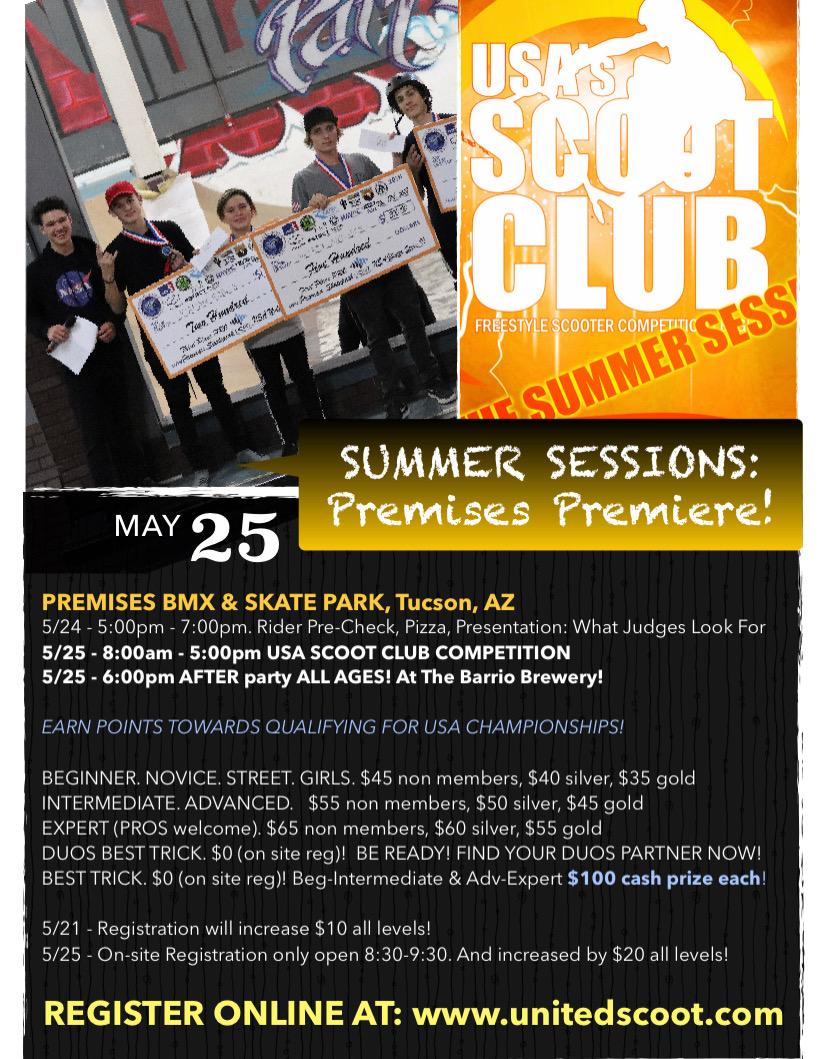 5/25/2019 - Premises Premiere,  Premises BMX & Skate Park , Tucson, AZ (x1.0pts)