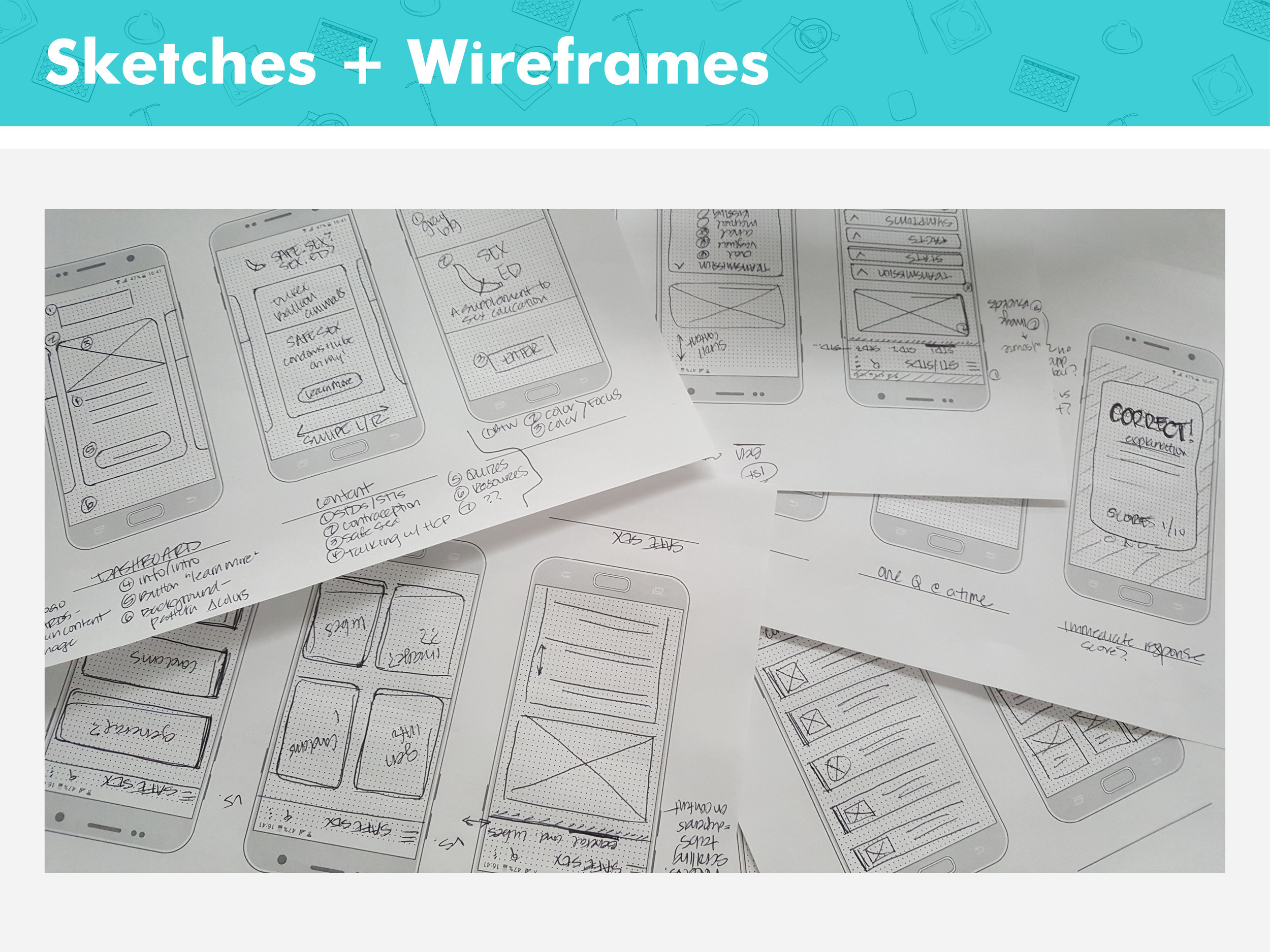 thesis - sketches and wireframes