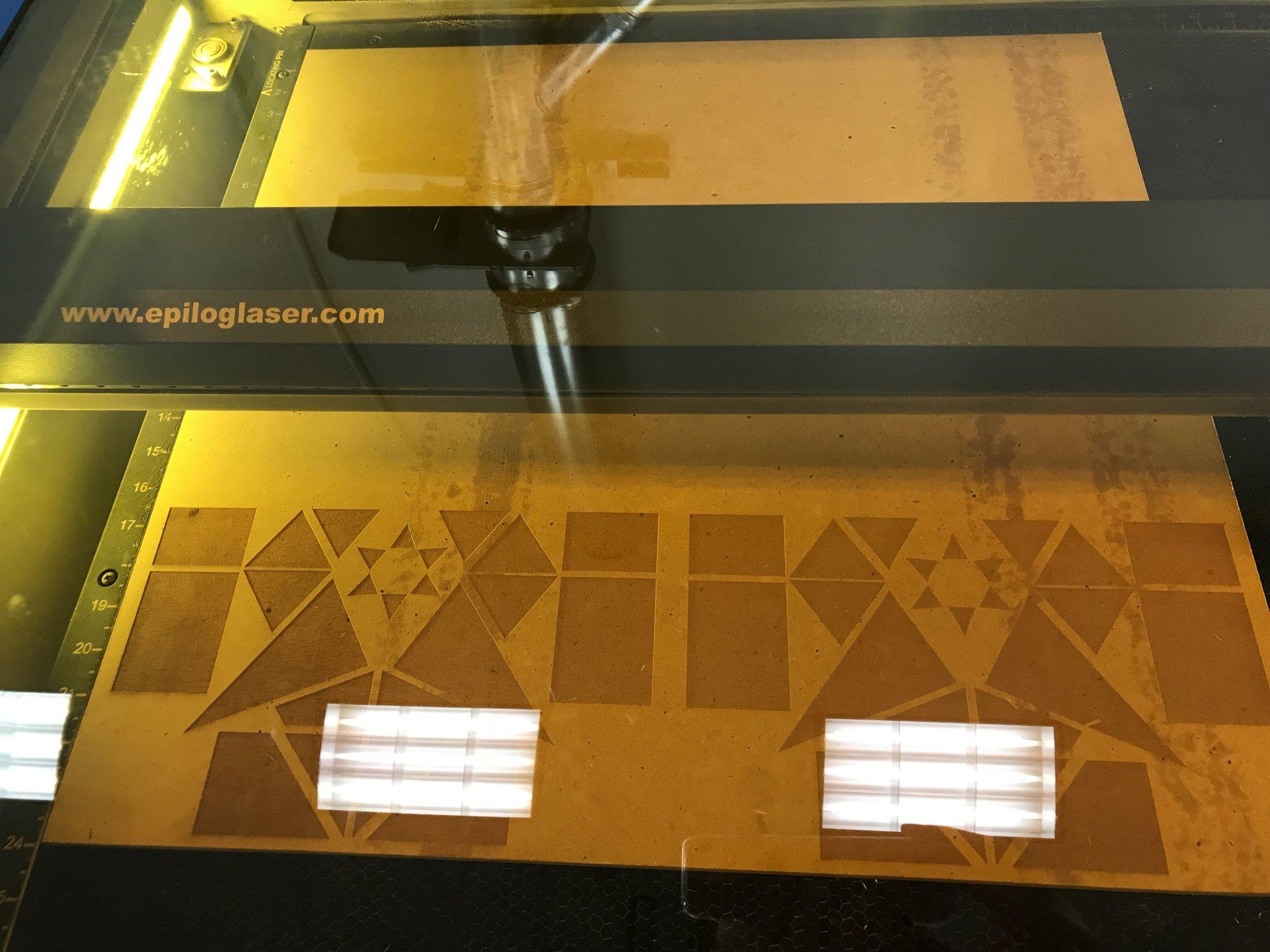 In the laser cutter!