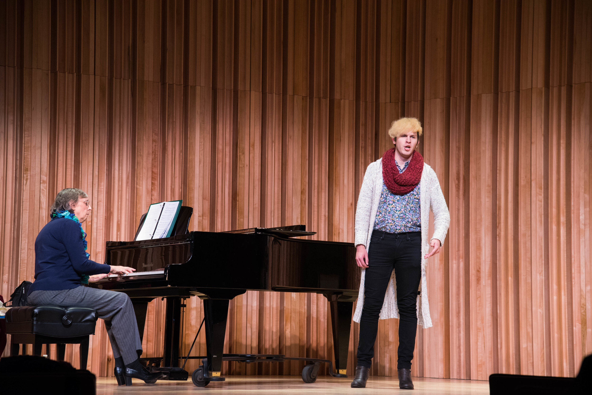 June Marano-Murray and Loki DeAngelis perform. Photo: Tim Miller.