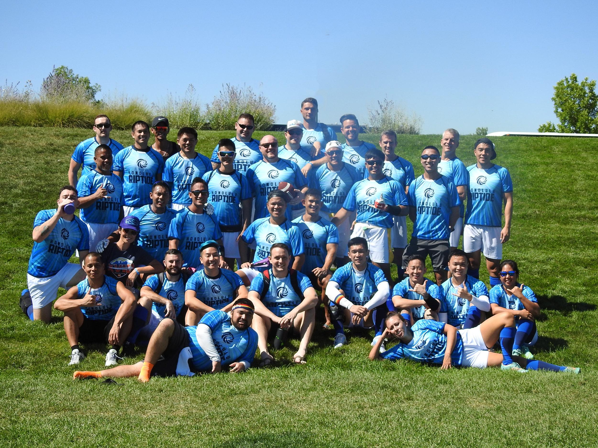 The 2018 Honolulu Riptide teams.