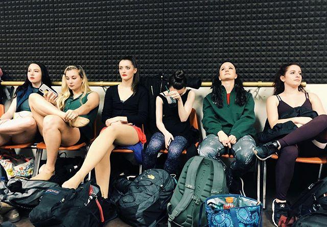 Val, Cassie, Sheila, Connie, Diana, Bebe.  #12HourAudition #WeGotHereAt5:45AM