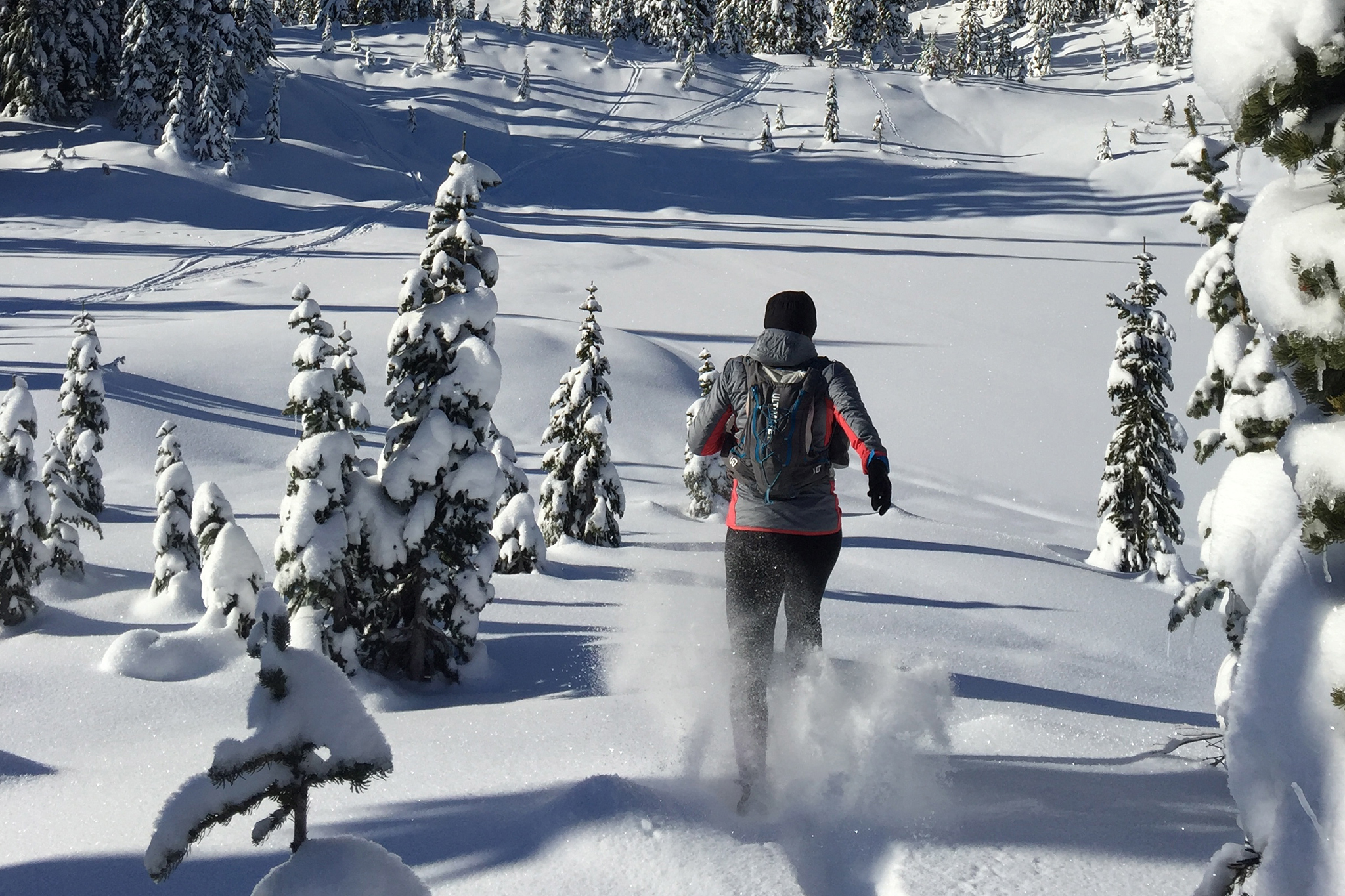 Backcountry Overnight Snowshoe Run - Explore Callaghan Country as we run into a remote lodge for the night and enjoy delicious food and a comfortable lodge.