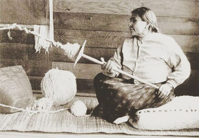 """The concentric spheres of the heavens turn around a spindle, like a vast spindle whorl."" - Marija Gimbutas  Woman spinning yarn at the Coast Salish village of Musqueam. Charles F. Newcombe, December 5, 1915.  #resatelafilms #spinning #weaving #dreamweaving #sharingstories #intuition #memories #babayaga #subconscious #wisdomteachers"