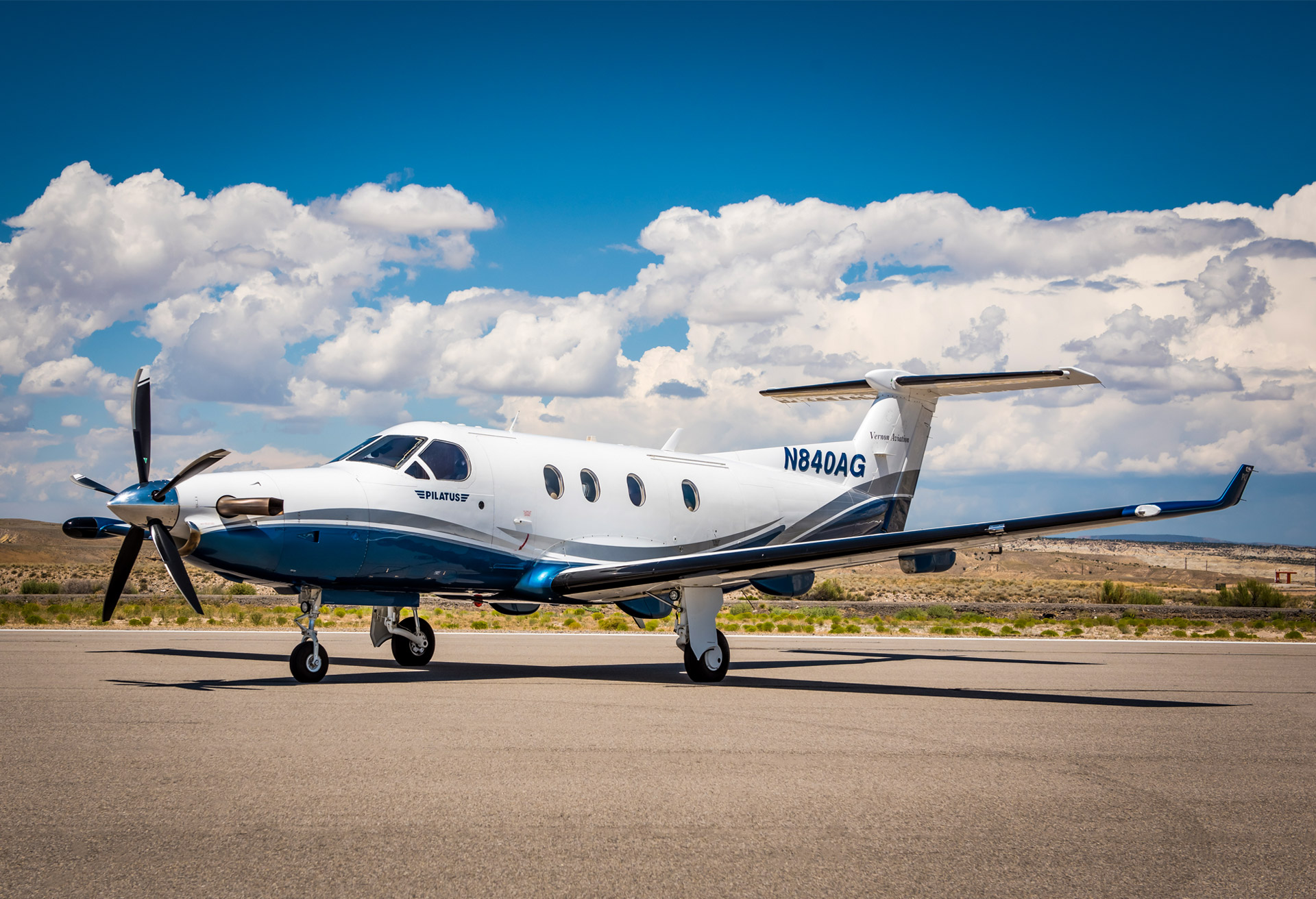ALPHA GOLF - 1999 PILATUS AIRCRAFT LTD PC-12/45Based in Scottsdale, AZSeats up to 9 passengersTravels up to 1,500 miles nonstop