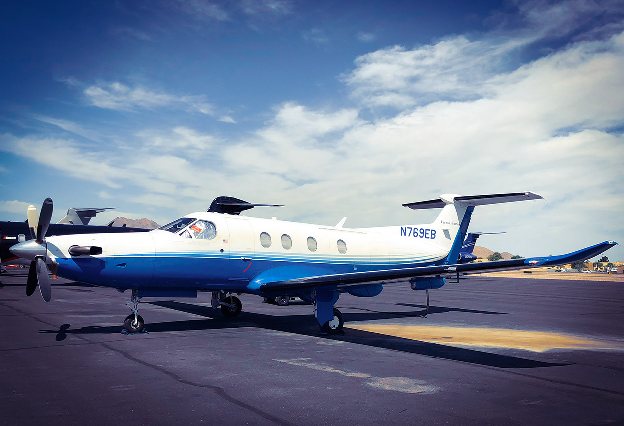 ECHO BRAVO - 2006 PILATUS AIRCRAFT LTD PC-12/47Based in Farmington, NMSeats up to 9 passengersTravels up to 1,500 miles nonstop