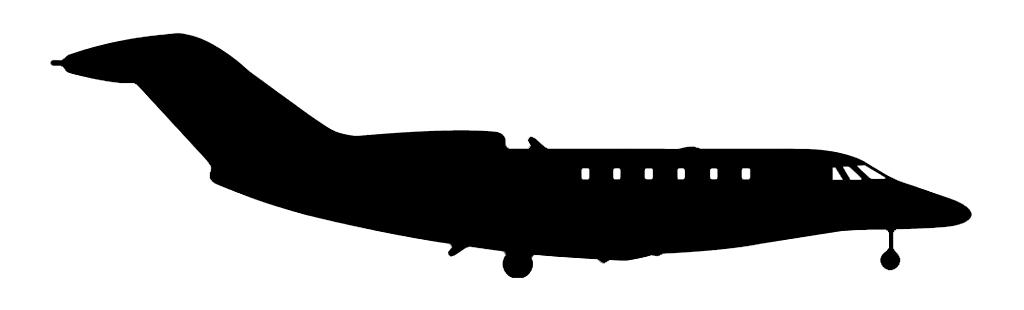 MIDSIZE JETS - SEATS: 5-10RANGE: 1,500-2,500 MILES